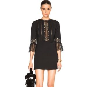 Self-Portrait black bell sleeve shift dress - sz 2